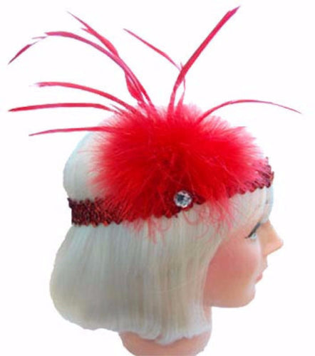 Gatsby 20s Flapper Headband - Red - Red Top Box