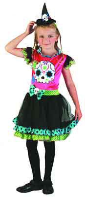 Funky Punk Witch - Child - halloween - Red Top Box