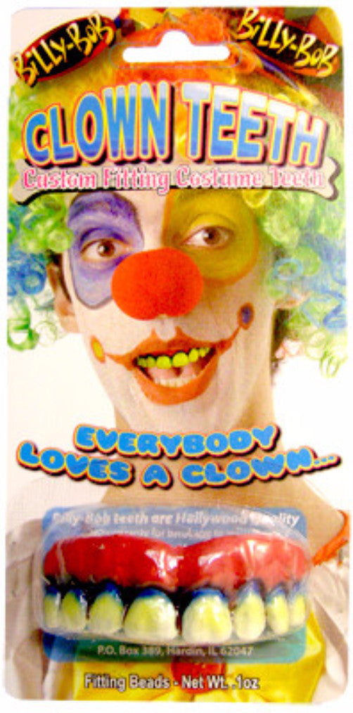 Billy Bob Costume Teeth - Clown - Red Top Box