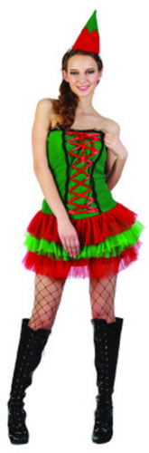 Cute Christmas Elf - Adult - Red Top Box
