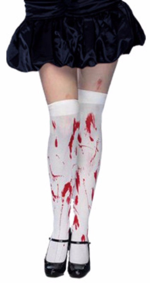 Thigh High Tights - Blood Splattered - Red Top Box