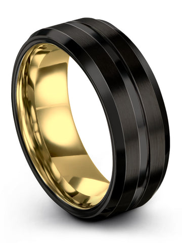 Black Yellow Gold Plated Beveled Edge