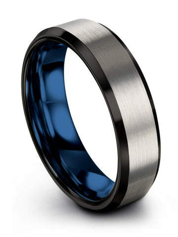 Stately Grey and Blue Tungsten Wedding