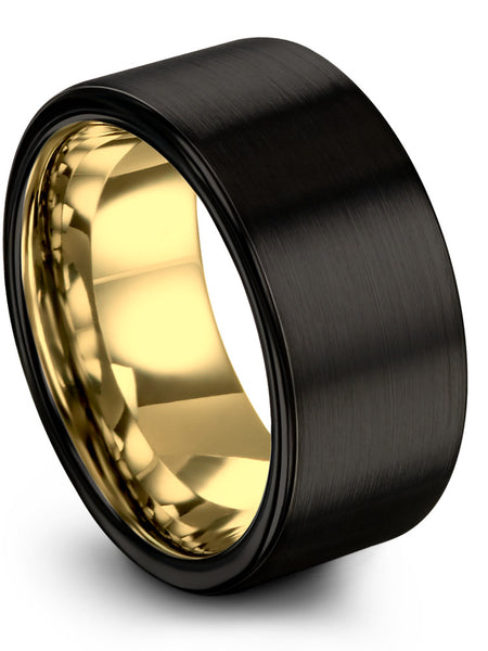 18k Yellow Gold Interior Dark Knight Black Flat Cut
