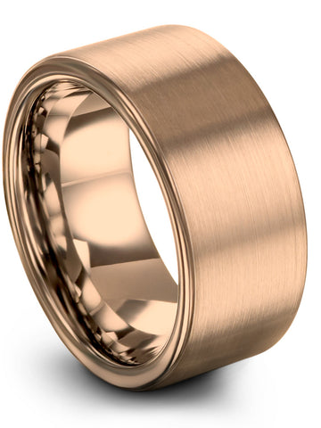 Flat Cut Brushed Polished Gold Plated Ring