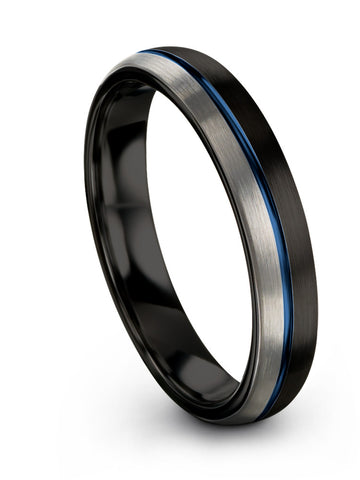 Black on Black Tungsten Wedding Band