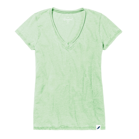 Women's Distressed V-Neck