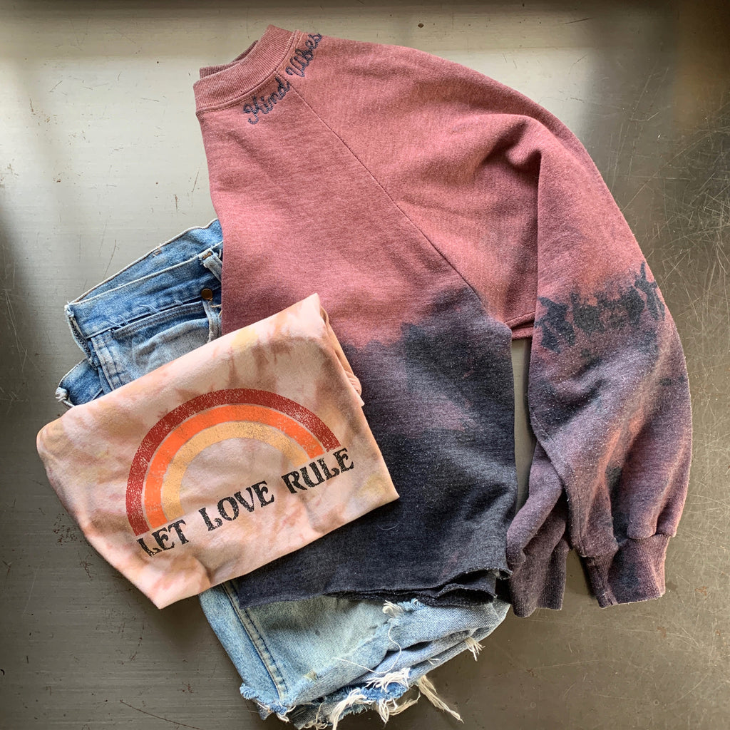 Tie Dye Let Love Rule Tee Kids