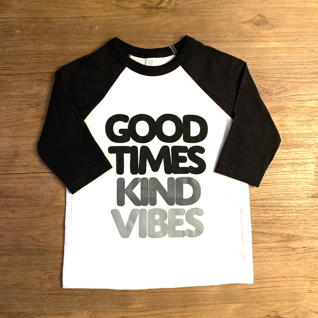 Good Times Kind Vibes Raglan Tee Adult