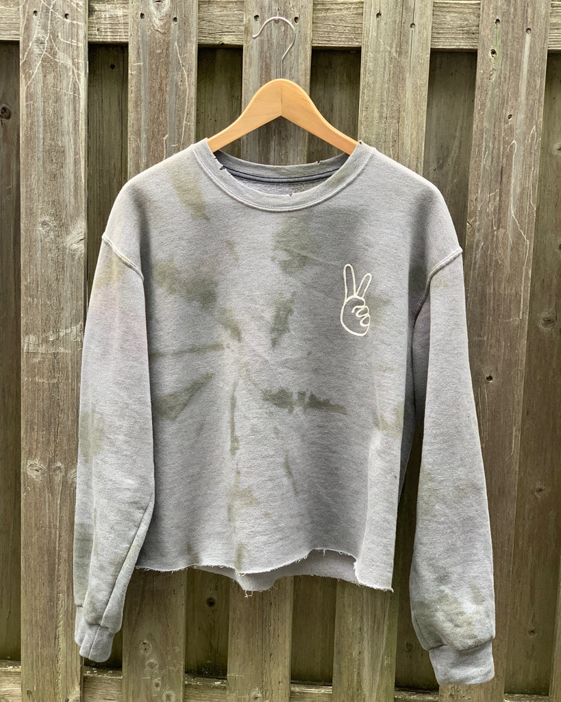 Military Grey Tie Dye Sweatshirt
