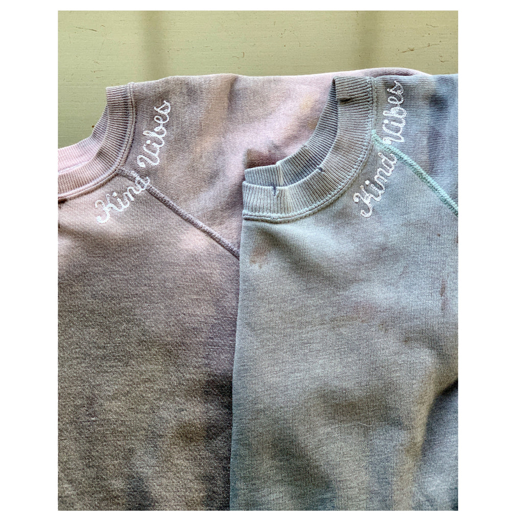 Kind Vibes Blue Skies Dip Dye Sweatshirt
