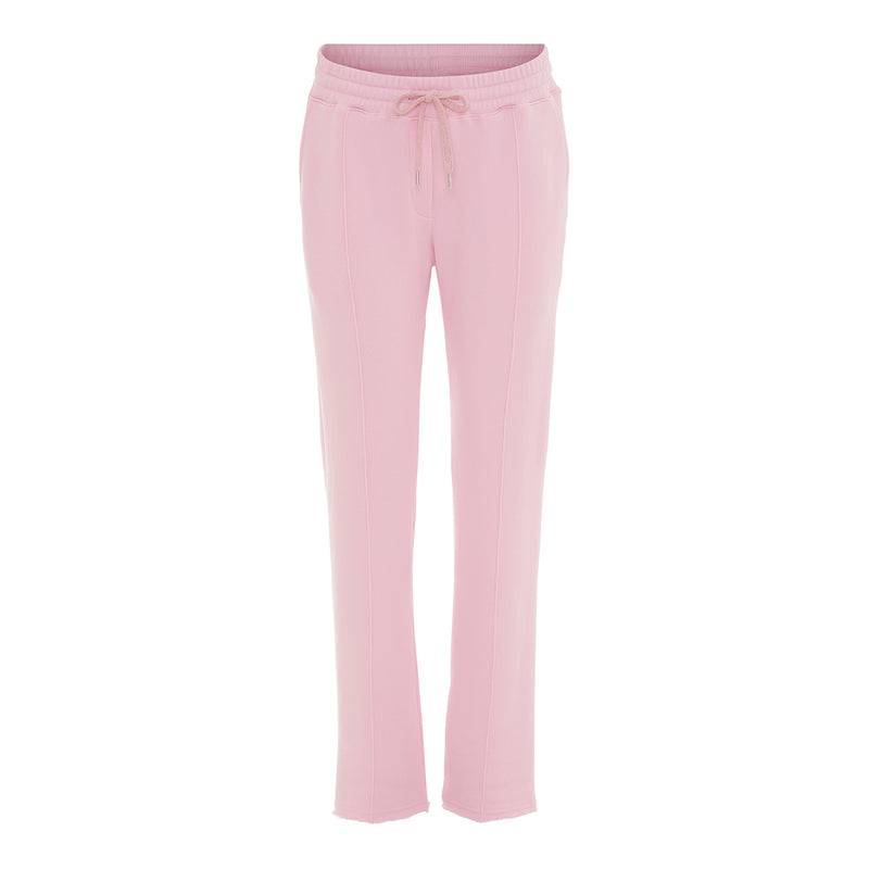 Adita baby pink sweat pants in loose fit and elastic waist