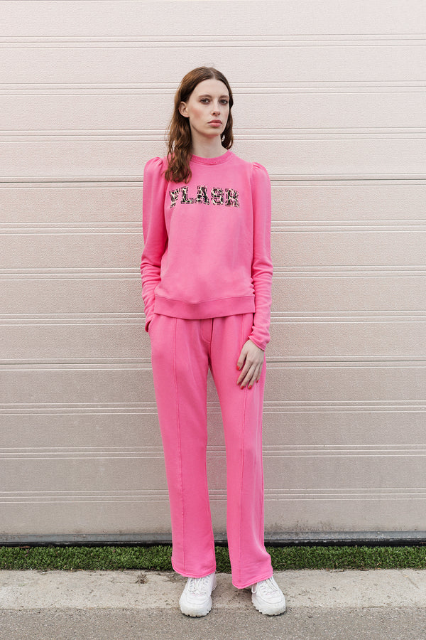 Aiko pink printed sweatshirt and Adita pink sweat pants