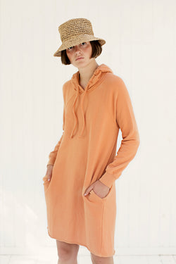 sweatshirt dress with hoodie and pockets styles with hat