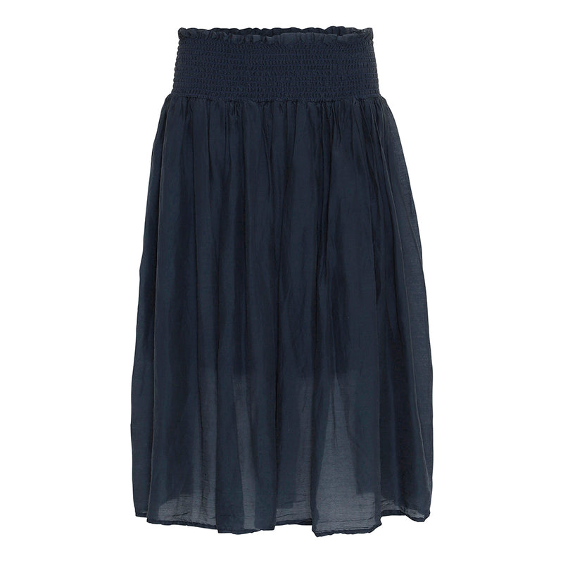 proeject aj117 marli skirt in dark blue with elastic waist
