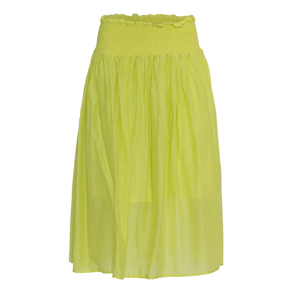 project aj117 marli skirt in bright yellow with elastic waist