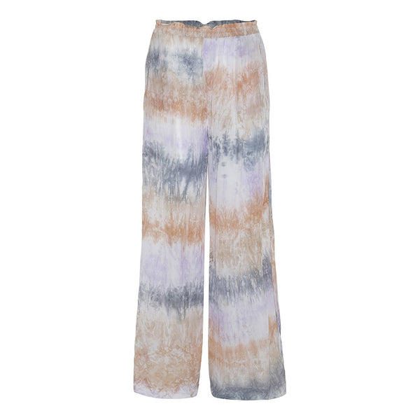 tie dye loose pants multi pastel color elastic waist