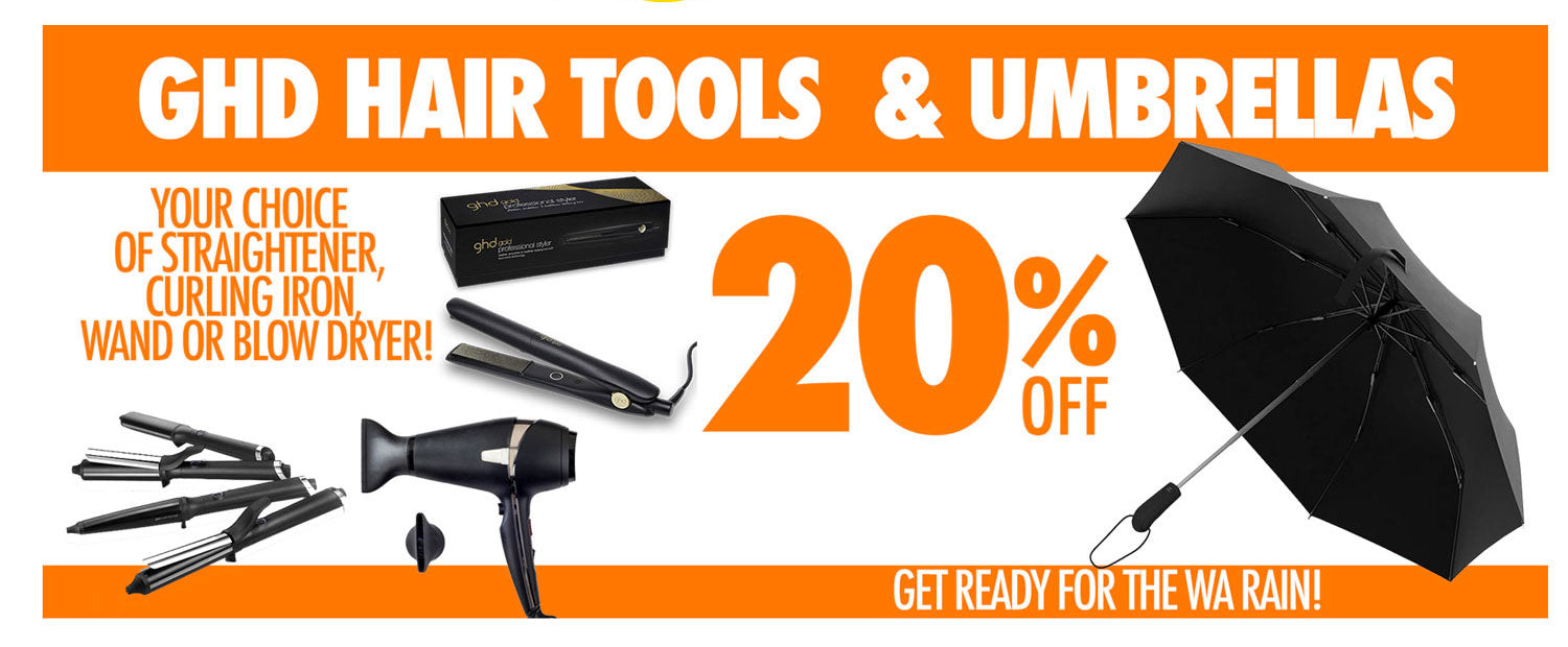 GHD Hair Tools & Umbrellas 20%off