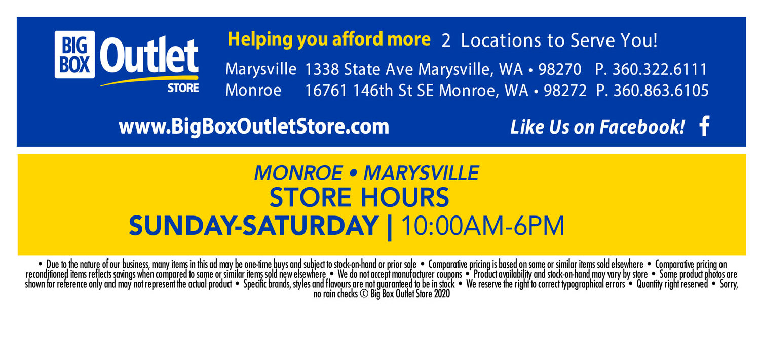 Big Box Outlet Store Hours Monroe Marysville
