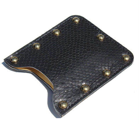 ZOE LEATHER STUDDED CARD HOLDER