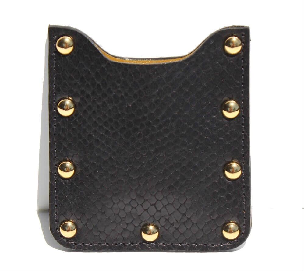 ZOE LEATHER STUDDED CARD HOLDER - CLARAMILLAN