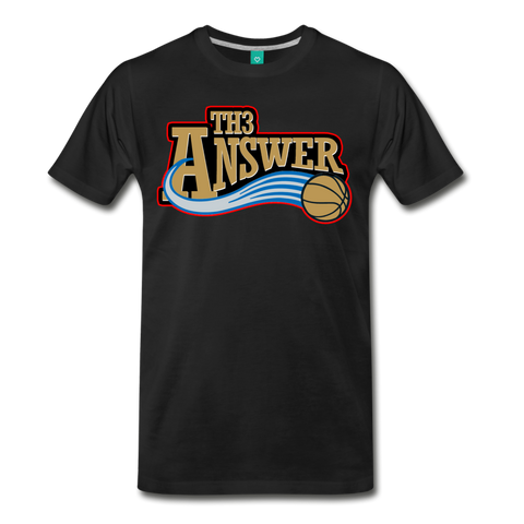 Th3 Answer Men's T-Shirt - black