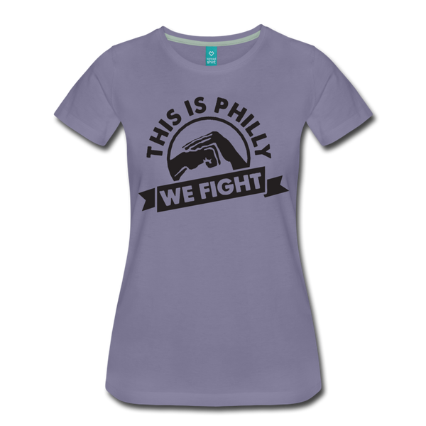 We Fight Women's T-Shirt - washed violet