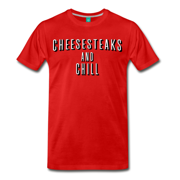 Cheesesteaks and Chill Men's T-Shirt - red