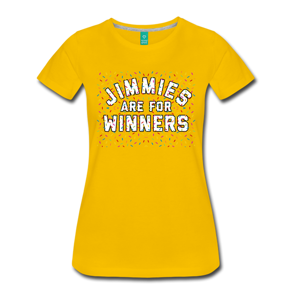 Jimmies Women's T-Shirt - sun yellow