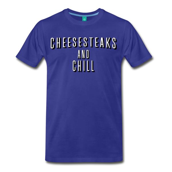 Cheesesteaks and Chill Men's T-Shirt - royal blue