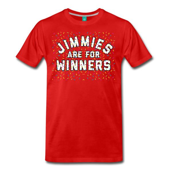 Jimmies Men's T-Shirt - red