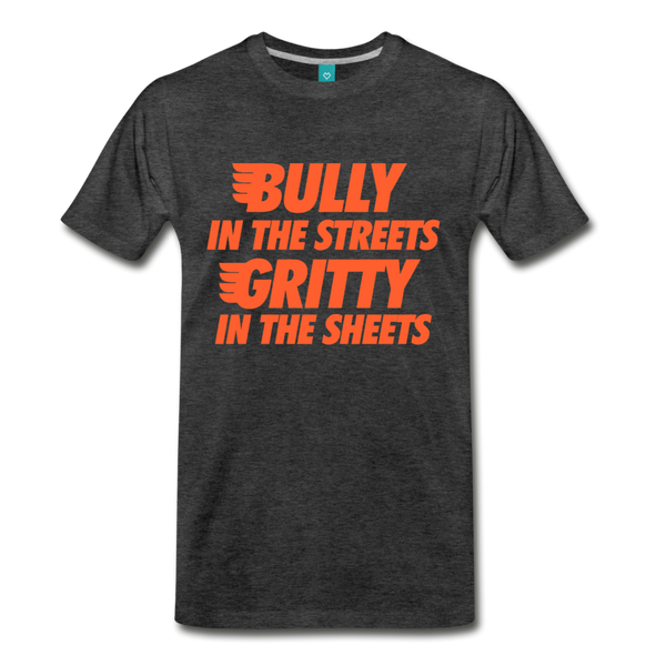 Gritty in the Sheets Men's T-Shirt - charcoal gray