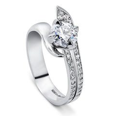 Bespoke platinum engagement ring