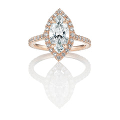 Marquise Diamond Rose Gold Engagement Ring