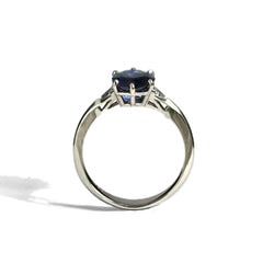 Sapphire Spaceframe Engagement Ring