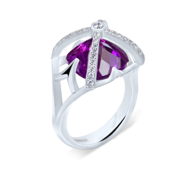 Amethyst Vaulted Arch Ring