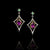 Amethyst, Tsavorite & Diamond Earrings