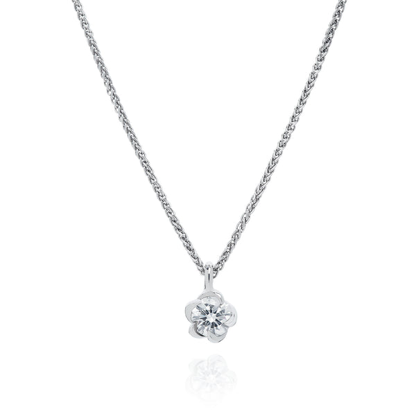 Platinum 0.36ct Deadly Nightshade Diamond Pendant