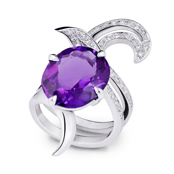 Deadly Nightshade Amethyst Ring