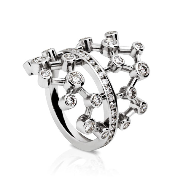 Diamond Dendritic Ring