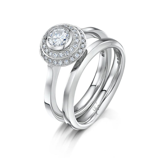 Platinum 0.40ct Diamond Labyrinth Engagement Ring