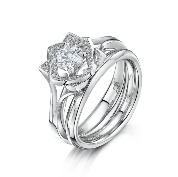 Platinum and Diamond Secret Garden Engagement Ring