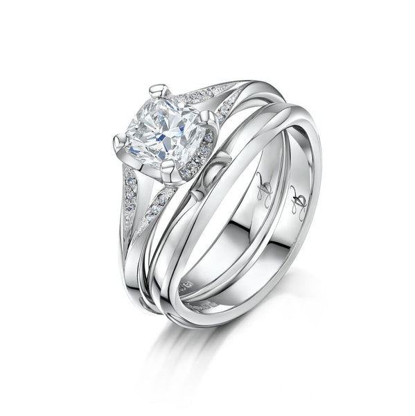 Platinum and Diamond Magical Engagement Ring