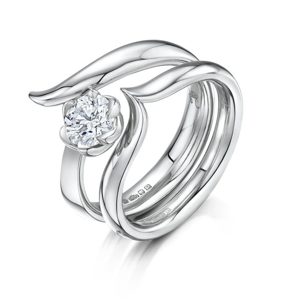 Platinum and Diamond Oasis Engagement Ring