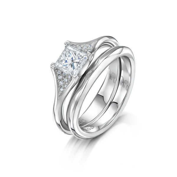 Platinum 0.70ct Diamond Twilight Engagement Ring