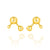 Gold Vermeil Atomic Large Sphere Stud Earrings