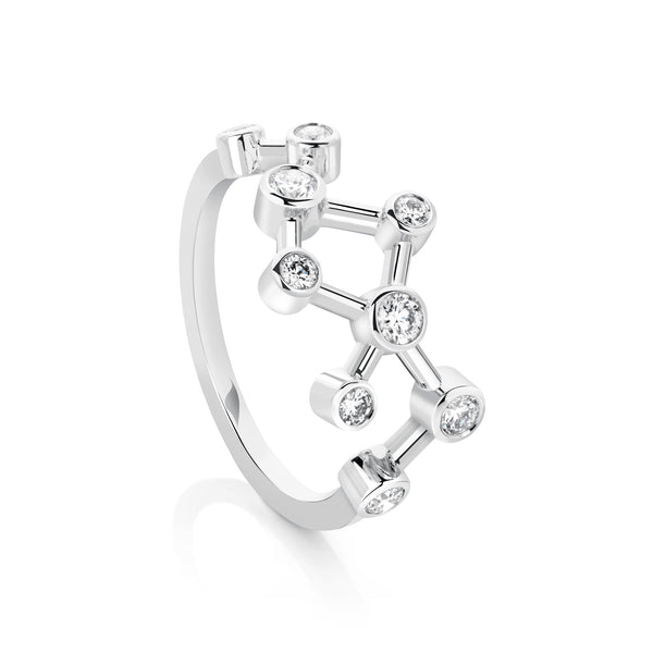Half Small Diamond Dendritic Ring