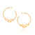 Rose Gold Vermeil Atomic Sphere Hoop Earrings