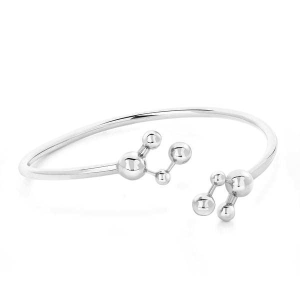 Silver Atomic Sphere Bangle