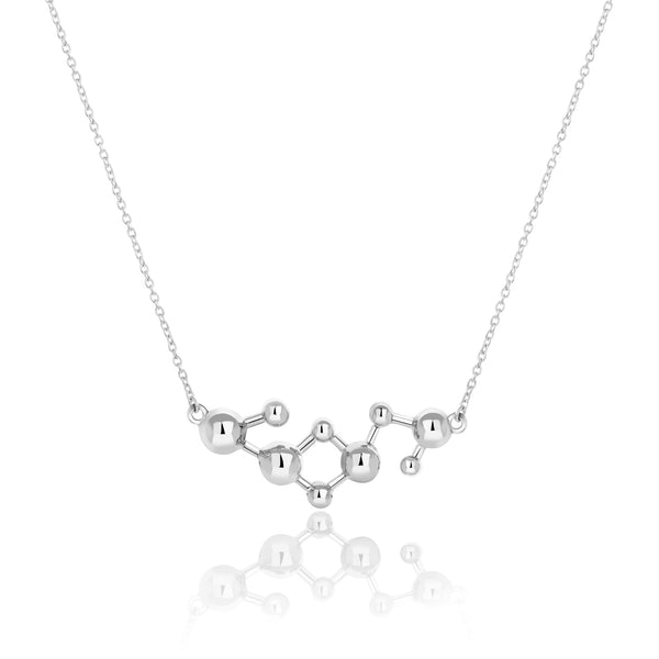 Silver Atomic Sphere Necklace